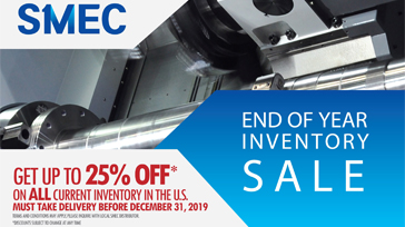 End of Year SPecial Pricing for Samsung CNC and SMEC CNC